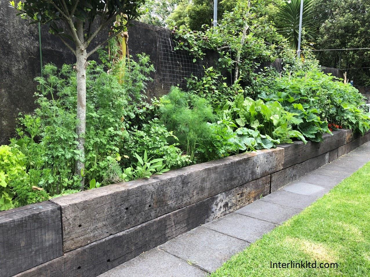 AA - Grade railway sleepers planter box